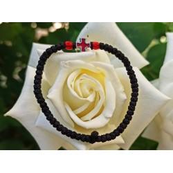 Rosary Ropes Waxed With Enamel Cross